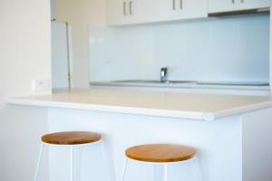 A kitchen or kitchenette at Ocean View Apartment 27