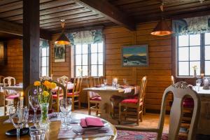 En restaurang eller annat matställe på Vålådalens Fjällstation