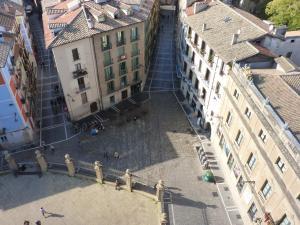 Albergue Plaza Catedral a vista de pájaro