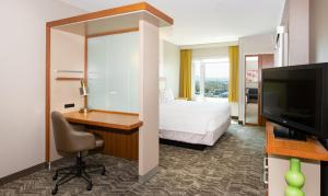 A television and/or entertainment centre at SpringHill Suites by Marriott Las Vegas Convention Center