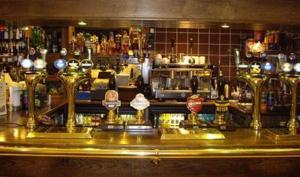 The lounge or bar area at Stags Head Hotel