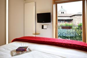 Cama o camas de una habitación en Echaurren Hotel Gastronómico