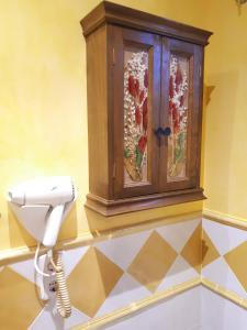 Kupatilo u objektu Posada la Vieja Escuela