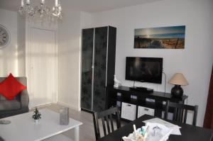 Een TV en/of entertainmentcenter bij Schelvis Apartments