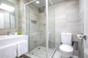 A bathroom at Nightcap at Coolaroo Hotel