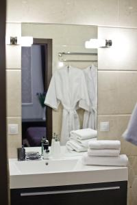 A bathroom at Boutique Hotel Leningrad