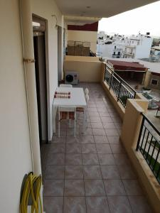 A balcony or terrace at Heraklion Center Sea View Flat
