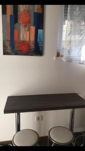 Χώρος καθιστικού στο Sunny Studio Flat