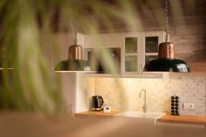 A kitchen or kitchenette at Den Bustel
