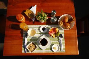 Opciones de desayuno disponibles en La Zayapa