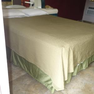 A bed or beds in a room at Palm City Motel