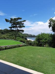 A garden outside Cocobolo Beach Resort