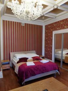 Łóżko lub łóżka w pokoju w obiekcie Oficerski Yacht Club RP Pacyfic