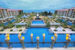 A view of the pool at Mulia Resort or nearby