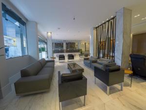 Uma área de estar em Hotel Vieiras