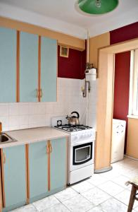 A kitchen or kitchenette at Apartment on Peremohy Ave 17