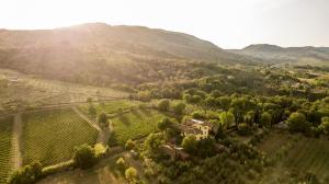 Vista aerea di Locanda Casanuova