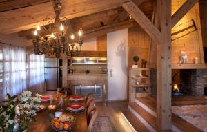 A restaurant or other place to eat at Chalet Megeve