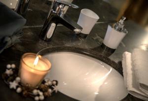 A bathroom at Chalet Megeve