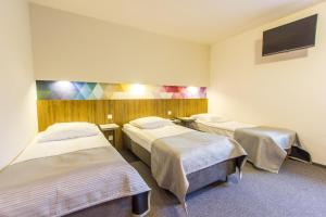 A bed or beds in a room at Hotel Platan