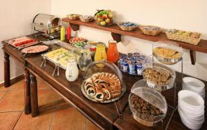 Breakfast options available to guests at Penzion Prelat