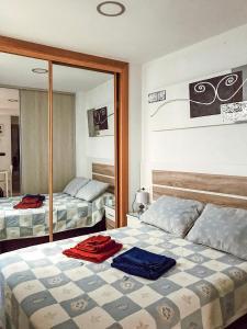 Cama o camas de una habitación en Estudio Inora