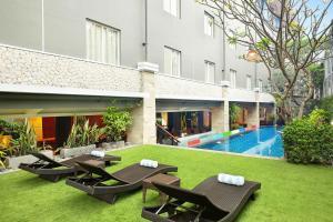 The swimming pool at or near ibis Budget Bali Seminyak