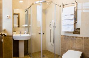 A bathroom at Vishnevyy Sad Hotel