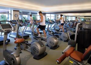 The fitness center and/or fitness facilities at Fairmont Mayakoba