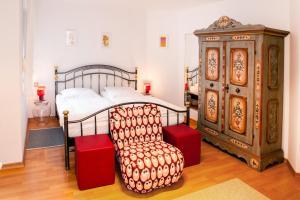 Ein Bett oder Betten in einem Zimmer der Unterkunft Boardinghouse Marienlinde