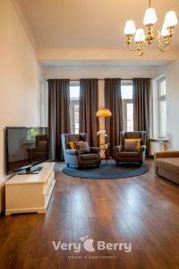 A seating area at Very Berry - Garbary 27 - Apartament z balkonem, Old City, check in 24h