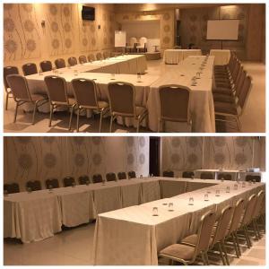Espace de conférence ou salle de réunion dans l'établissement Pacha hotel
