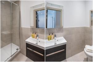 A bathroom at Regents North London Apartments