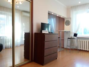 A television and/or entertainment center at Apartment on Sovetskaya 9