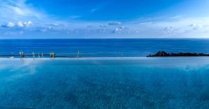 Het zwembad bij of vlak bij Faro Capo Spartivento