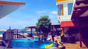 The swimming pool at or near Hotel Marbella Montecristi Rep. Dom.