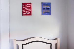Cama o camas de una habitación en Lindo apartamento (Ingleses/Santinho)