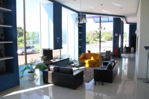 The lobby or reception area at Hotel Lago Azul