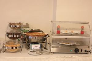 Ett kök eller pentry på Hotel Life