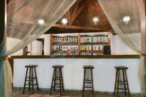Ο χώρος του lounge ή του μπαρ στο Ξενοδοχεία Πύργος