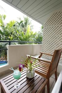 A balcony or terrace at The Viridian Resort