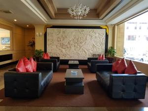 The lobby or reception area at The K Hotel