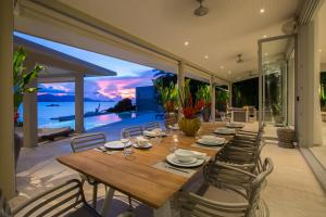 A restaurant or other place to eat at Moonstone - Samui's Premier Private Villa