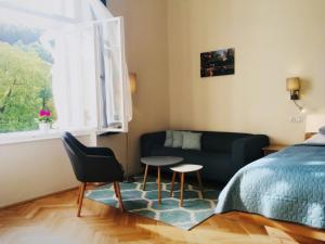 Posezení v ubytování Marienbad Apartment