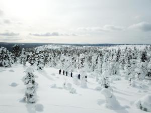 Hotel Ylläsrinne during the winter