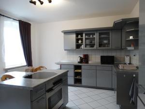 A kitchen or kitchenette at Ferienwohnung Franke