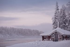 Hotel Harriniva during the winter