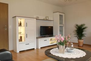 A television and/or entertainment center at Ferienwohnung Sendelbeck