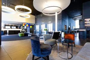 Lounge oder Bar in der Unterkunft Novotel Basel City