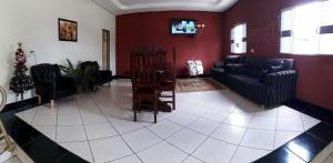 The lobby or reception area at Lagos Hotel